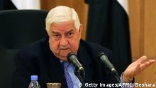 Syrien Außenminster Walid al-Muallim