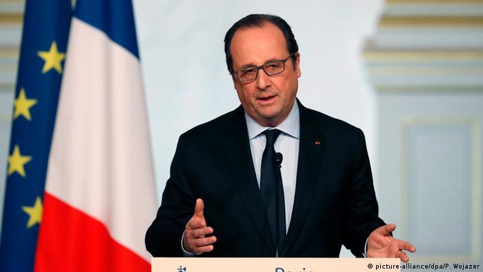 Frankreich Präsident Francois Hollande
