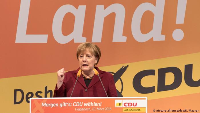 Deutschland Wahlkampfabschluss in Haigerloch Angela Merkel