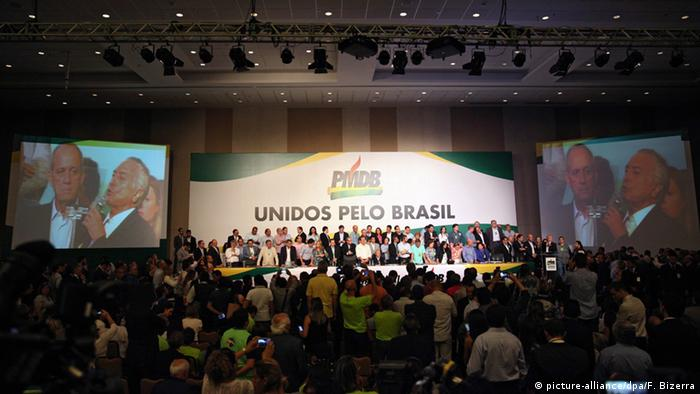 Brasilien Parteitag PMDB
