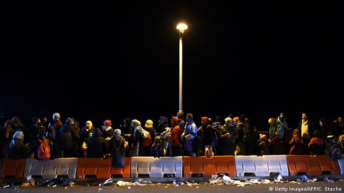Deutschland Flüchtlinge an der deutsch-österreichischen Grenze