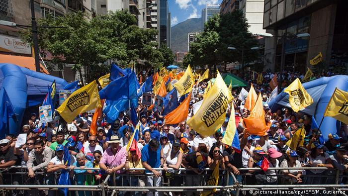 Протестующие против Николаса Мадуро в Каракасе, март 2016