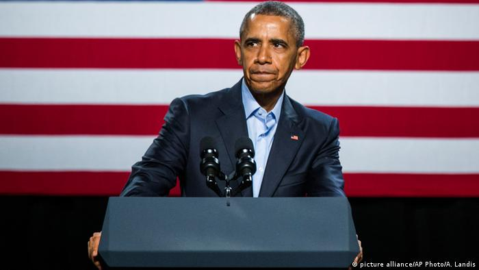 USA Präsident Barack Obama in Dallas (picture alliance/AP Photo/A. Landis)