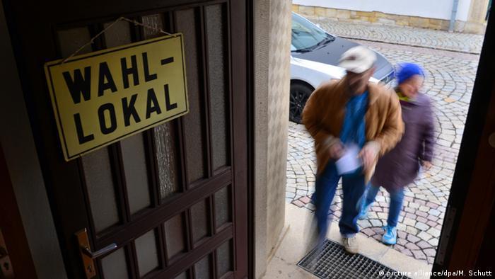 Избирательный участок в Саксонии-Анхальт