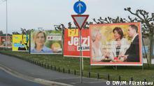 Landtagswahl Rheinland-Pfalz: Wahlplakate der Parteien am Ufer des Rheins in Mainz Foto: Marcel Fürstenau