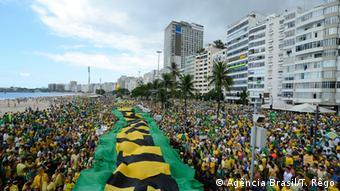 Brasilien Proteste gegen Dilma Rousseff in Rio de Janeiro