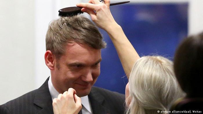 André Poggenburg bei der Landtagswahl der AfD in Magdeburg. (Foto: dpa)