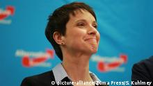 13.03.2016+++ March 13, 2016 - Berlin, Germany, Germany - Party leader Frauke Petry during the election night of AfD (party) at AO hostel in Berlin's Lichtenberg district to the state elections in Baden-Württemberg, Rheinland-Pfalz and Sachsen-Anhalt +++(c) picture-alliance/Zuma Press/S. Kuhlmey
