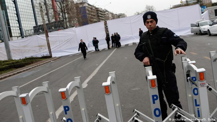Police sealed off the area of the attack on Monday