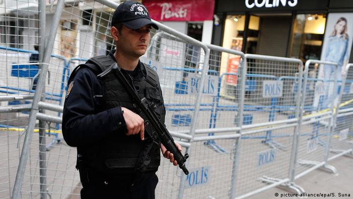 Turkish police after the latest Ankara attack.