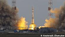 14.03.2016+++ The Proton-M rocket, carrying the ExoMars 2016 spacecraft to Mars, blasts off from the launchpad at the Baikonur cosmodrome, Kazakhstan, March 14, 2016. REUTERS/Shamil Zhumatov +++(c) Reuters/S. Zhumatov