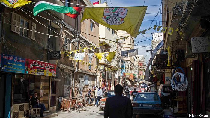 Libanon Flüchtlingslager Ain el Helweh Straße (John Owens)