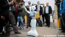 14.3.2016 *** A humanoid robot Pepper dances in front of visitors at the world's biggest computer and software fair CeBit in Hanover A humanoid robot Pepper dances in front of visitors at the world's biggest computer and software fair CeBit in Hanover, Germany, March 14, 2015. REUTERS/Nigel Treblin Copyright: Reuters/N. Treblin