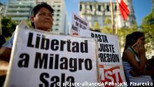 Argentinien Demonstrationen für Freilassung Abgeordnete Milagro Sala