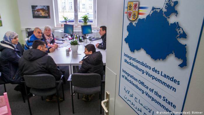 Сирийская семья в центре первичного приема беженцев, Мекленбург-Передняя Померания