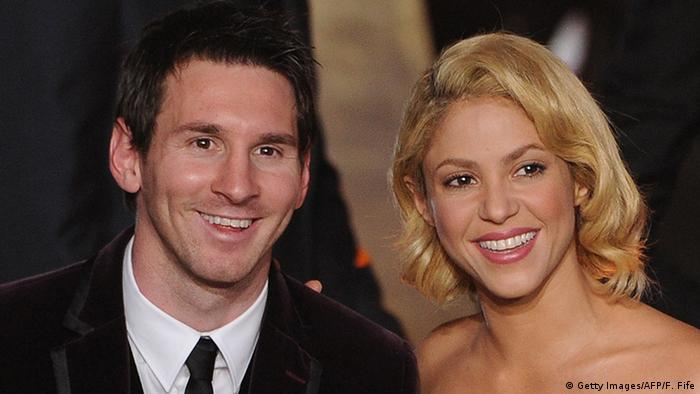 Lionel Messi Shakira Ballon d'Or football (Getty Images/AFP/F. Fife)