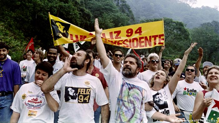 Brasilien Präsidentschaftskandidat Luiz Inacio Lula da Silva 1994