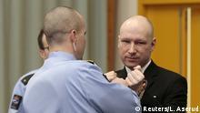 Norwegen Massenmörder Anders Behring Breivik Klage gegen Haftbedingungen
