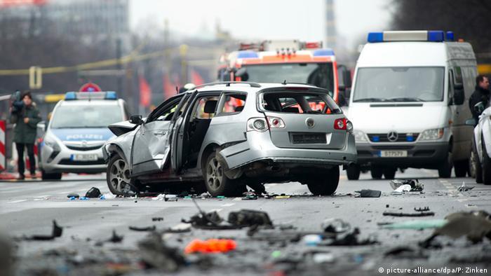 راننده اتوموبیل در اثر انفجار کشته شد