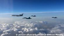 15.03.2016+++ 2806920 03/15/2016 First group of Russian Aerospace Force aircraft redeploys from Hmeimim, Syria, to Russia. (Screenshot from Russian Defense Ministry video, posted on Youtube)./Ministry of defence of the Russian Federation +++ (C) picture-alliance/dpa/Russian Defense Ministry