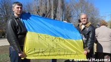 Ukraine Proteste gegen die Annektion von Krim Veldar Schukurdschiev