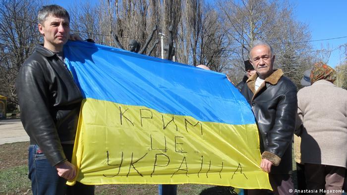 Акция протеста против аннексии Крыма (Фото из архива)
