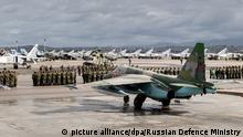 Syrien russische Kampfjets (picture alliance/dpa/Russian Defence Ministry)
