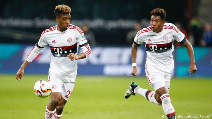Deutschland Coman und Alaba gemeinsam für den FC Bayern München