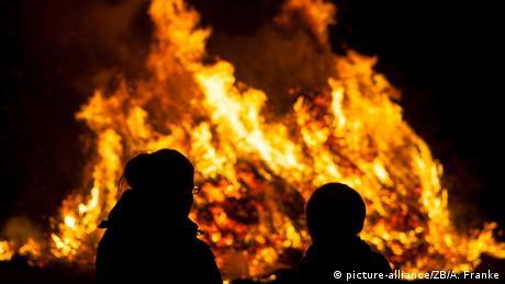 An Easter bonfire in Niederlausitz