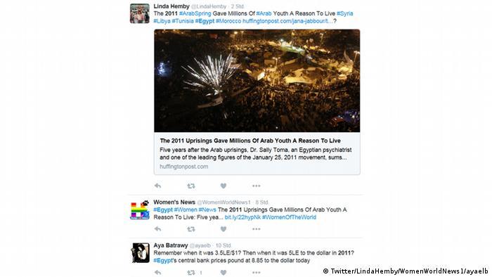 Twitter Tweets zum Hashtag #egypt