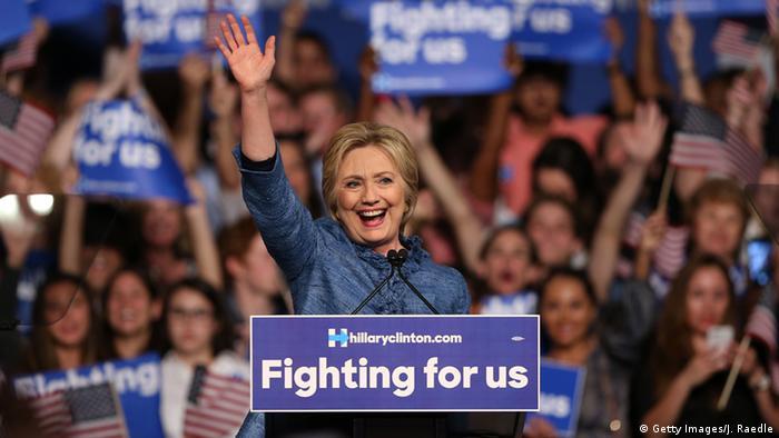 USA Vorwahlen in Florida Hillary Clinton in West Palm Beach