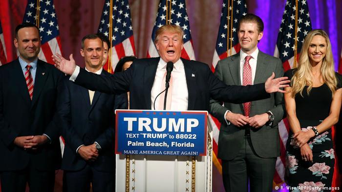 USA Vorwahlen in Florida Donald Trump in West Palm Beach