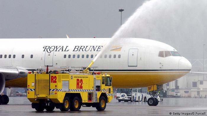 Avião da Royal Brunei Airlines
