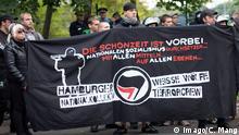 Deutschland Neonazi-Aufmarsch in Berlin mit Hamburger Weisse Wölfe Terrorcrew