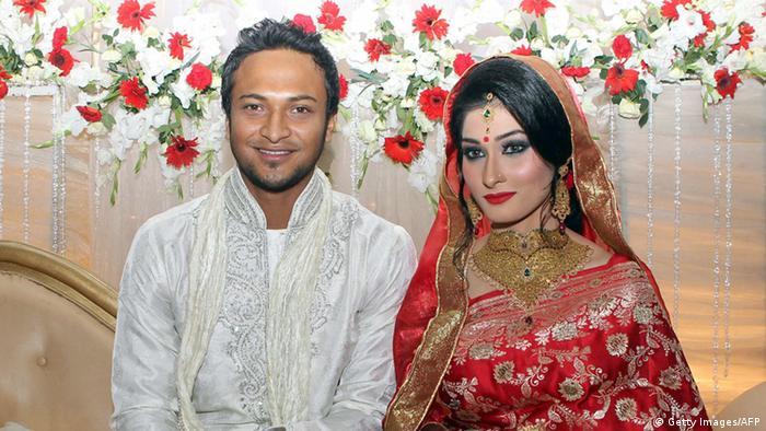 Bangladesch Shakib Al Hasan Cricket Spieler mit Frau Umme Ahmed Shishir