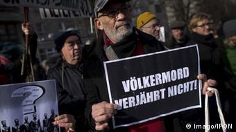Deutschland Demonstration in Berlin Genozid deutscher Truppen in Namibia