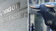 Bildkombo London Stock Exchange Frankfurter Börse