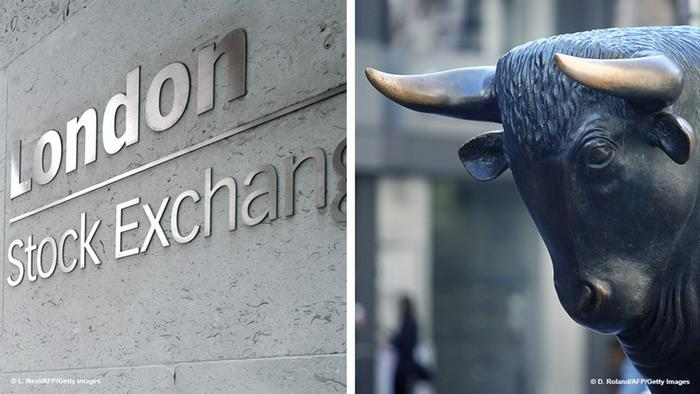 Bildkombo London Stock Exchange Frankfurter Börse