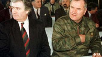 Radovan Karadzic, left, and Mladic