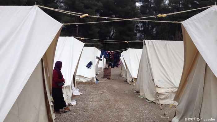مخيم ريتسونا اليوناني للاجئين يبعد 80 كيلومترا عن العاصمة أثينا
