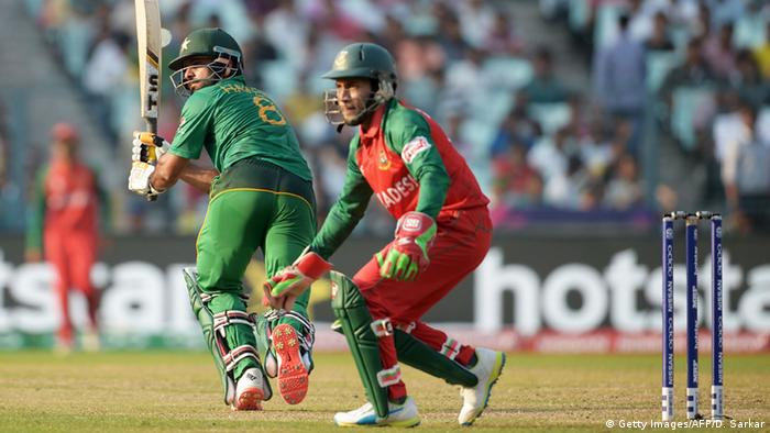 Indien World T20 cricket tournament - Pakistan vs. Bangladesch