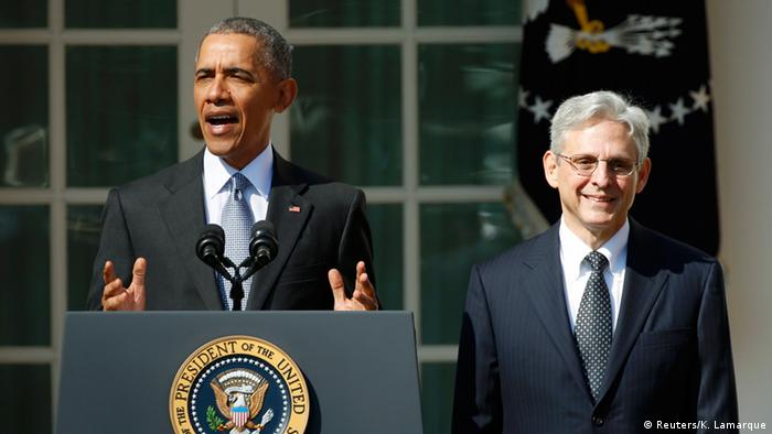 Washington Obama präsentiert Bundesrichter Nominierten Merrick B. Garland
