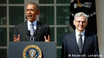 Washington Obama präsentiert Bundesrichter Nominierten Merrick B. Garland (Reuters/K. Lamarque)