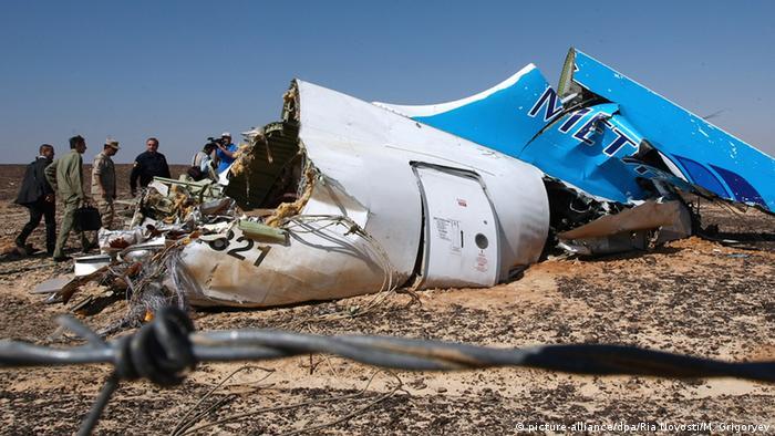 обломки самолета на Синае