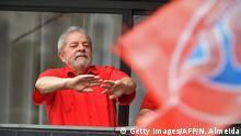 Brasilien bei Sao Luiz Inacio Lula vor Anhängern