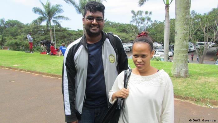 Südafrika Siyabonga Zulu, Studentenführer an der Universität in Durban