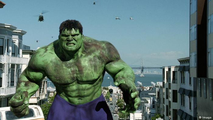 Movie scene showing the Hulk in action (Imago)