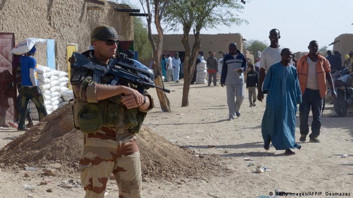 Französischer Soldat in Mali Westafrika