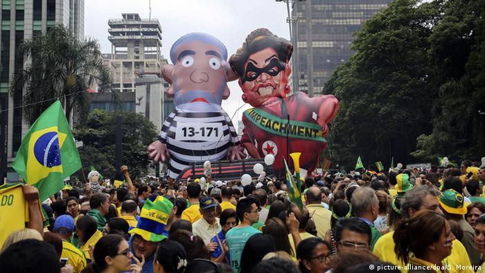Brasilien Sao Paulo Protest Anti Rousseff