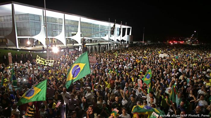 Brasilien Brasilia Protest Anti Rousseff